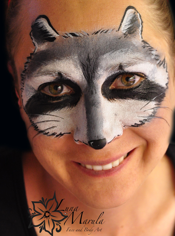 Raccoon makeup